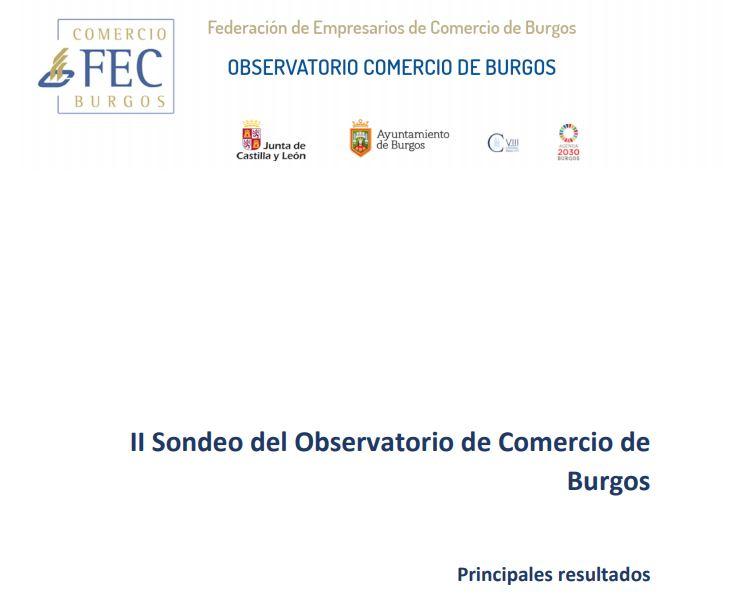Principales resultados del II sondeo del Observatorio de Comercio de Burgos